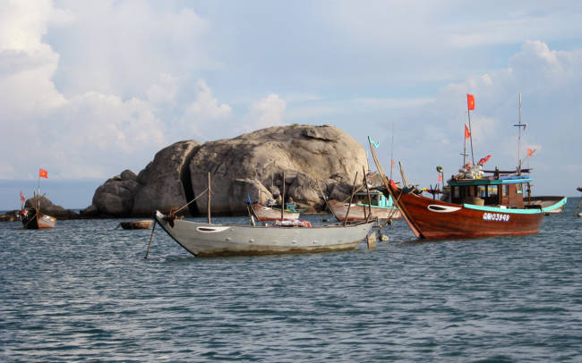 Scuba Diving with Cham Island Diving Center in Hoi An, Vietnam - Fishing Boats